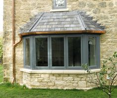 Beautiful, modern and traditional windows - Flush casement timber windows, all made to measure using engineered timber and top performance double glazing. Cottage Windows, Cottage Door, Cottage In The Woods, Wood Cottage, Timber Windows, Casement Windows, Windows And Doors, Bow Windows, Front Windows