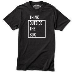 My design inspiration: Think Outside The Box Tee Black on Fab.
