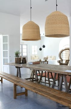 Calico makes it easy with free interior design services, custom furniture, window treatments & other home décor, all made with the best designer fabrics. Basket Lighting, Light In, Dining Room Inspiration, Inspired Homes, Bohemian Decor, Kitchen Decor, Living Spaces, Sweet Home, Bedroom Decor
