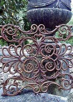 PONTALBA GRATE cast iron architectural gothic gate New Orleans victorian garden Gothic Garden, Victorian Gardens, Metal Gates, Wrought Iron Gates, Garden Gates And Fencing, Fences, Gates And Railings, Iron Art, My Secret Garden