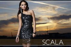 The designers at Scala & BG Haute take the classic little black dress silhouette and deck it to the 9s in various patterns created with shimmering embellishments. Just as evening dresses are becoming popular for senior prom, the short cocktail dress is in the spotlight for events like homecoming, winter formals and even a night out clubbing or celebrating a 21st birthday.