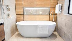The Block NZ Soaking wet bathroom week with tears and tantrums The Block Bathroom, The Block Nz, Eclectic Tile, Nice Guys Finish Last, Nz History, Soaking Wet, Bathroom Trends, Bathroom Ideas, Black And White Tiles