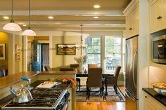 Kitchen toward dining room - Passumpsic Point Lake House