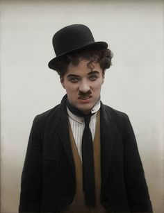 """A beautiful colorized photo of Charlie Chaplin. Related posts:Le KidChaplin is """"For The Ages""""Tableau Charlie ChaplinCharlie Chaplin PhotosCharlie Chaplin UniverseCharlie … Vevey, Charlie Chaplin, Hollywood Stars, Classic Hollywood, Old Hollywood, Silent Film Stars, Movie Stars, Charles Spencer Chaplin, Photo Star"""