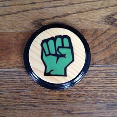 HULK DISC GOLF Mini Marker Hand Painted by TheCloudNineStudios
