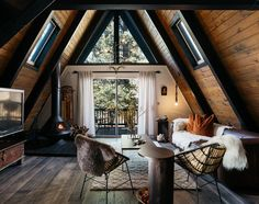 This wonderful incredibly cozy cottage was created for romantics or for a friendly family who adores nature. Just imagine: the house is located deep in ✌Pufikhomes - source of home inspiration Rustic Home Interiors, Rustic Home Design, Cabin Design, Modern Cabin Interior, Modern Cabin Decor, Cabin Interior Design, Wood House Design, Brick Interior, Design Homes