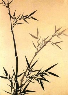(Korea) Bamboo(죽), Folding Screens by Gang Se-hwang (1713- 1791). 68.9× 48.3cm.  ink on paper. Private collection. 사군자.