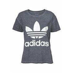 499995820c68b 35 Ti-shirt délavé manches courtes pour femme Adidas Originals - Gris- Vue 3