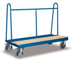 GTARDO.DE:  Langmaterialwagen, Tragkraft 500 kg, Ladefläche 1500 x 370 x 900 mm, Maße 1500 x 680 x 1230 mm, Rad 200 mm 232,00 €