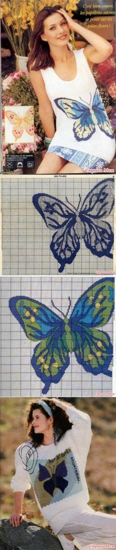 * Vestes et top avec des papillons - Jacquard - Mom Pays