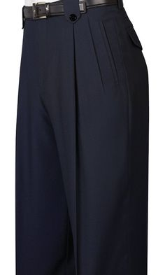 1930s Style Men's Pants Tiglio Black Wide Leg Dress Pants Pure Wool $99.00 AT vintagedancer.com