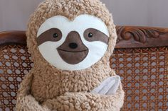 Sloth plushie pillow by PetitiPanda on Etsy