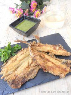 SARDINAS DE MAMA CON MOJO VERDE ~ The Spanish Food  Mojo verde sauce and sardines, amazing recipe from Canary Islands (Spain)