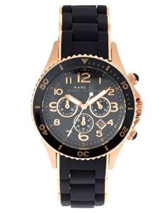 Marc By Marc Black And Rose Gold Chronograph Bracelet Watch