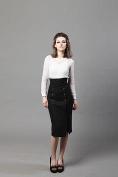 Picture Street Style Edgy, Work Casual, Feminine, Skirts, How To Wear, Collection, Women, Fashion, Lady Like
