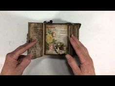▶ Tim Holtz Wallflower Mini Album - YouTube