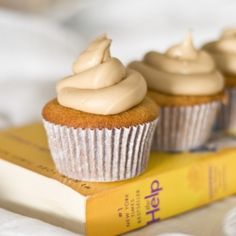 The Help: Caramel Cake, Cupcake Edition. A classic southern caramel cake in cupcake form.  Love.