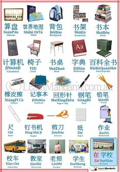 Learn mandarin Chinese: school-related words