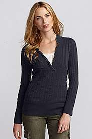 Eddie Bauer Vintage sweater. I have this in pink, and it's one of my go-to sweaters.