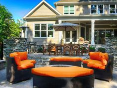 Ask us about ordering outdoor furniture from our Riverdale Model, what a great way to utilize the vibrant celosia orange color