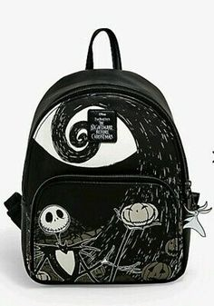 This glorious backpack has arrived! // Loungefly The Nightmare Before Christmas Jack Spiral Hill Mini Backpack Mini Mochila, Backpack Bags, Fashion Backpack, Star Wars Backpack, Nightmare Before Christmas Gifts, Cute Mini Backpacks, Disney Purse, Disney Handbags, Barrel Bag
