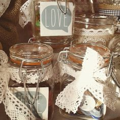 Vintage Buttons in a mini-jar, love it!
