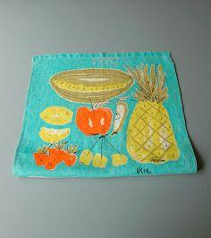 1970 vera linen calendar tea towel