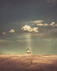 House in Rain - Nikolina Petolas (Print)