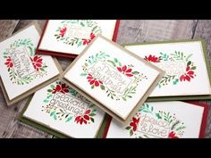 Holiday Card Series 2017 – Day 3 – Freehand Watercolor Flowers – kwernerdesign blog