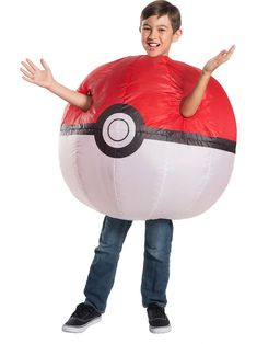 Pokemon: Inflatable Poke Ball Costume for Children - Boys Costumes for 2018 | Wholesale Halloween Costumes