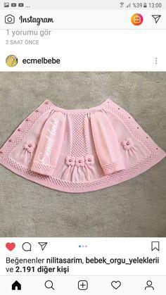 Brazilian Crochet And Handicraft Baby Cardigan Knitting Pattern Free, Baby Sweater Patterns, Baby Hats Knitting, Baby Knitting Patterns, Baby Pullover Muster, Vestidos Bebe Crochet, Baby Girl Patterns, Baby Girl Sweaters, Baby Afghan Crochet