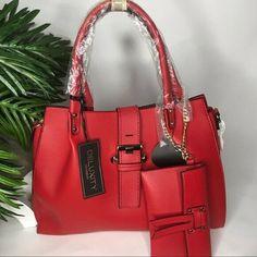 Red 2 in 1 Piece Handbag Satchel Purse Set With Crossbody Strap Hermes Handbags, Fashion Handbags, Fashion Bags, Satchel Purse, 1 Piece, Purses, Best Deals, Ebay, Ideas