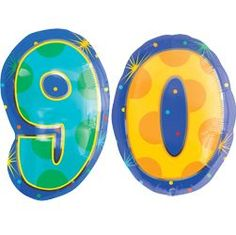 Number 90 Foil Balloons - Helium Filled