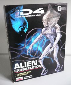 ID4 Independence Day Alien Exoskeleton Plastic Model kit by Lindberg