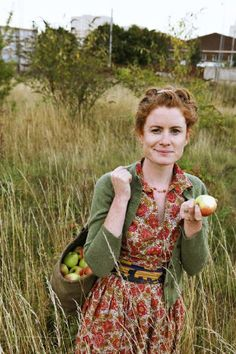 Foraging for food... (Alys Fowler ~ English gardening presenter and author.)