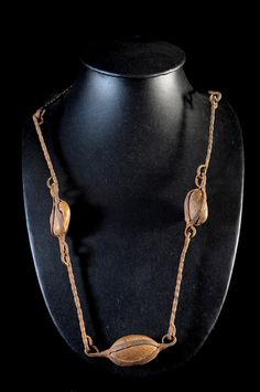 Necklace | A beaded necklace from the Dogon people of Mali | Stones and iron | ca. 1950s