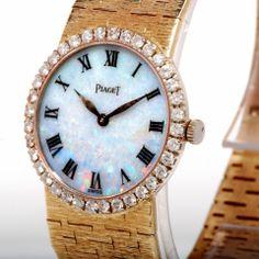 Piaget Diamond Opal Dial Gold Ladies Watch