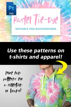 A set of 9 Unique Pastel Tie-Dye Backgrounds! Use this as Backgrounds, on Shirts, Hoodies, Bags, Posters, and on Products!!  Ideal for use on web or screen related projects : (such as websites, PPT presentations, email templates, headers, blogs, printed pieces, and many more). #tshirtdesigns #tiedye #patterns #apparelpattersn #ads Tie Dye Background, T Shirt Design Template, Pastel Tie Dye, Ppt Presentation, Email Templates, Tie Dye Patterns, Photoshop Brushes, Repeating Patterns, Headers