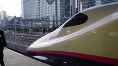 Токийский Синкансэн -скоростной поезд -Japanese Shinkansen high-speed train