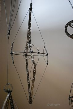Floating Forms  (c) Barbara Gilhooly  annealed steel wire, Erector set parts