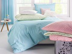 Bettwäsche aus 100% Baumwolle-Perkal in der Farbe Türkis. B/L: ca. 140/200cm…