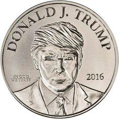 Donald Trump 1//10-oz .999 silver mini art rounds