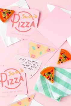 Last Minute Printable Pizza Valentines Sweet 16 Invitations, Wedding Invitation Cards, Party Invitations, Wedding Stationery, Pen Pal Letters, Bar Mitzvah Invitations, Pretty Designs, Love Craft, Party Printables