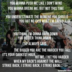 """""""Strike Back"""" by We As Human is my rally cry some days. #wah #weashuman"""