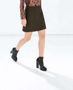 Zara Mini Skirt in Olive
