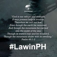 To those devastated by Super Typhoon Lawin, may Psalm 46:1-3 be your comfort and strength in this time of trial. #LawinPH