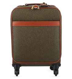 Mini four-wheeler from MULBERRY, Scotchgrain four-wheel trolley suitcase 55cm