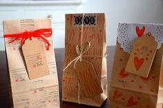 """LaGallinaRosita: DIY: Timbri fatti con il """"cuore"""" per realizzare pacchetti e tags"""