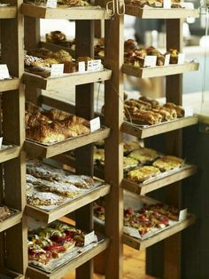 22 jan this pin was discovered by leslie anne du boulay. Bakery Store, Bakery Display, Bakery Cafe, Cafe Restaurant, Deli Cafe, Bakery Shop Design, Cafe Design, Design Design, Deli Shop