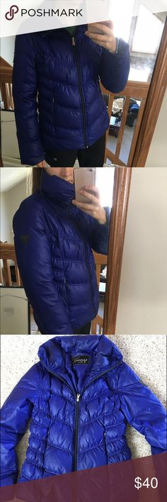 Guess Blue Winter Coat Super comfy and warm winter coat! Down coat, barely worn, and fits well! Great for cold winters, and very stylish too! Guess Jackets & Coats Puffers